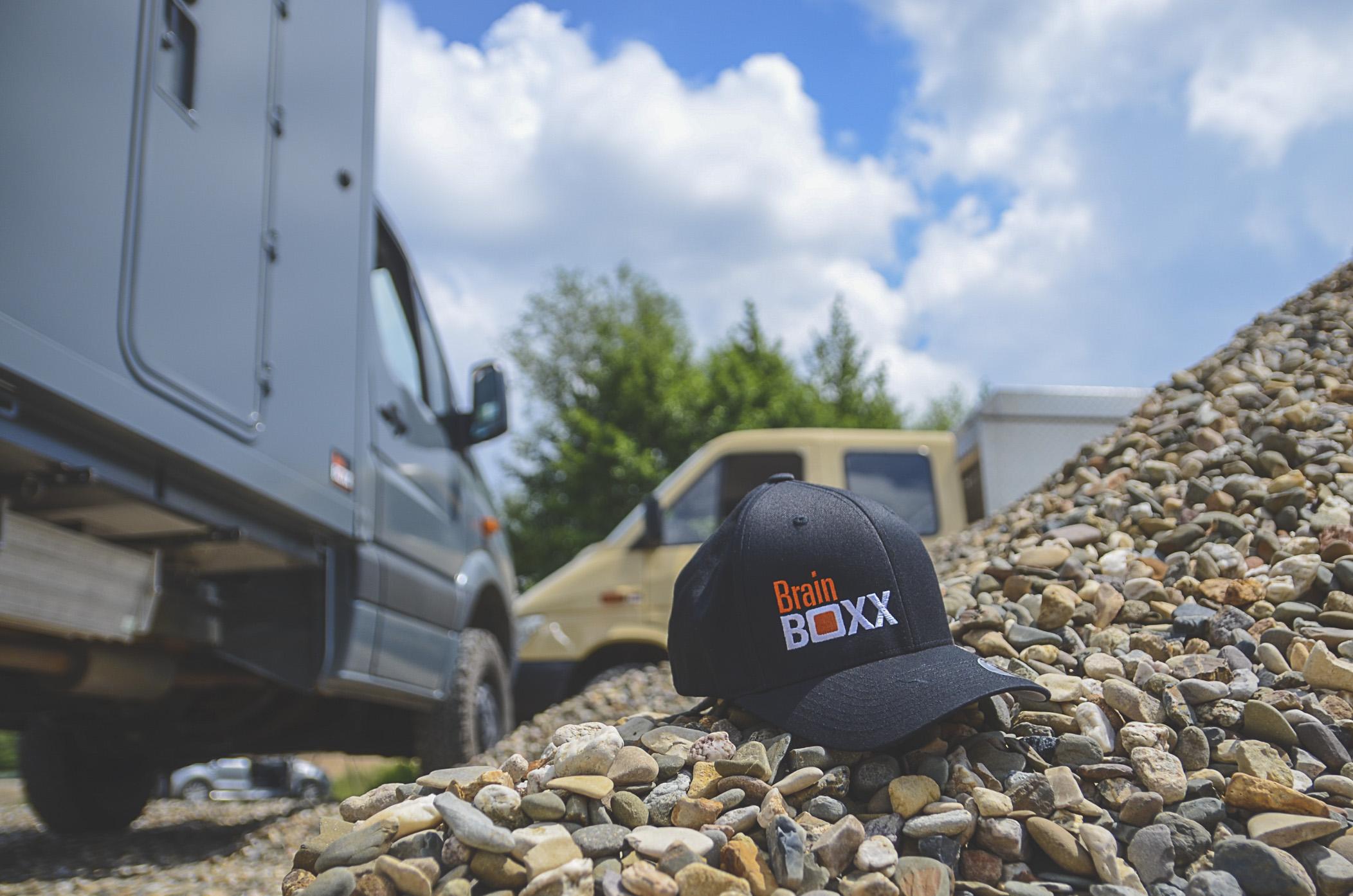 BrainBOXX Flex Caps (original black, logo stitch front)