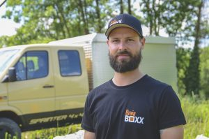 BrainBOXX Man Shirts (original black, logo print front, big logo und address print back)