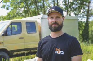 BrainBOXX Man Shirts (original black, logo print front, big logo und address print back)